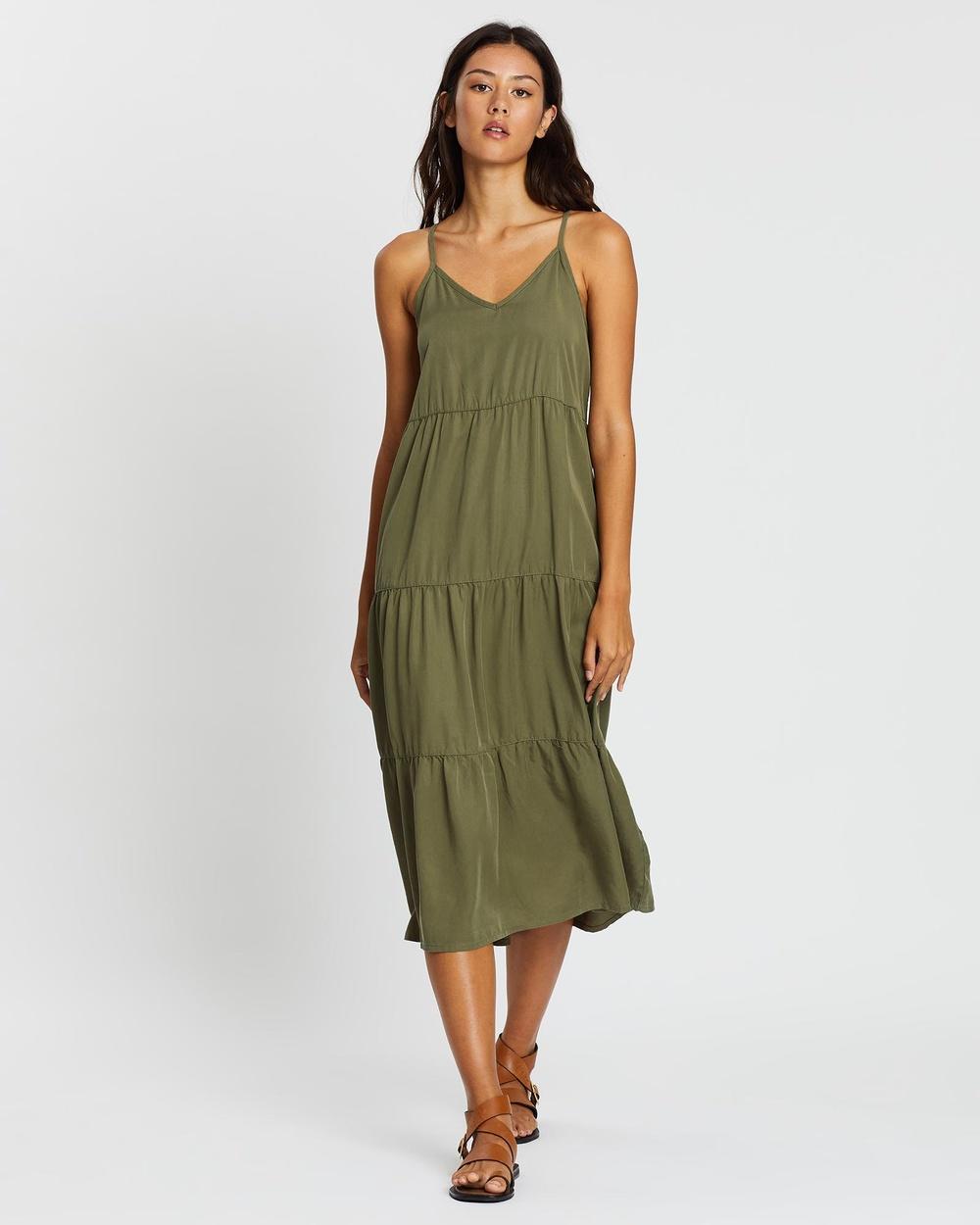 All About Eve Bondi Midi Dress Dresses KHAKI