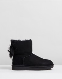 UGG - Fluff Bow Mini Ugg Boots - Women's