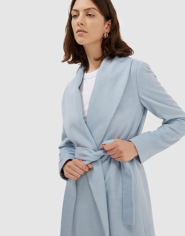 Women Perry Wool Blend Drape Coat