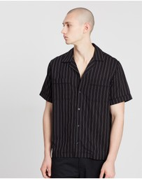 Saturdays NYC - Cameron Stripe Short Sleeve Shirt