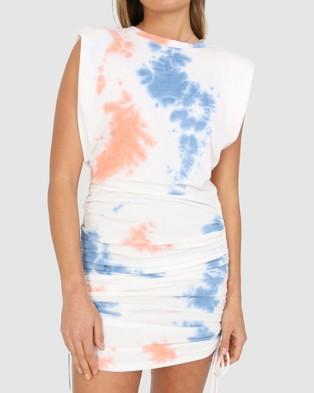 BY.DYLN Miles Dress - Dresses (Orange Tie Dye)