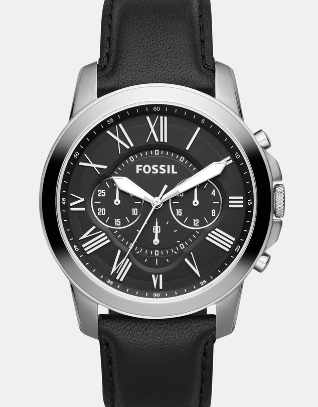 Fossil - Grant Black Analogue Watch