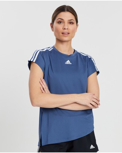 Adidas Performance 3-stripes Tie Tee Tech Ink