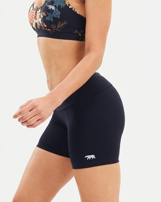 Running Bare High Rise Sport Tights - 1/2 Tights (Black)
