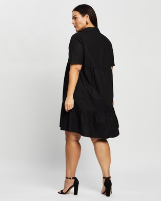 Atmos&Here Curvy Malia Mini Dress - Dresses (Black)