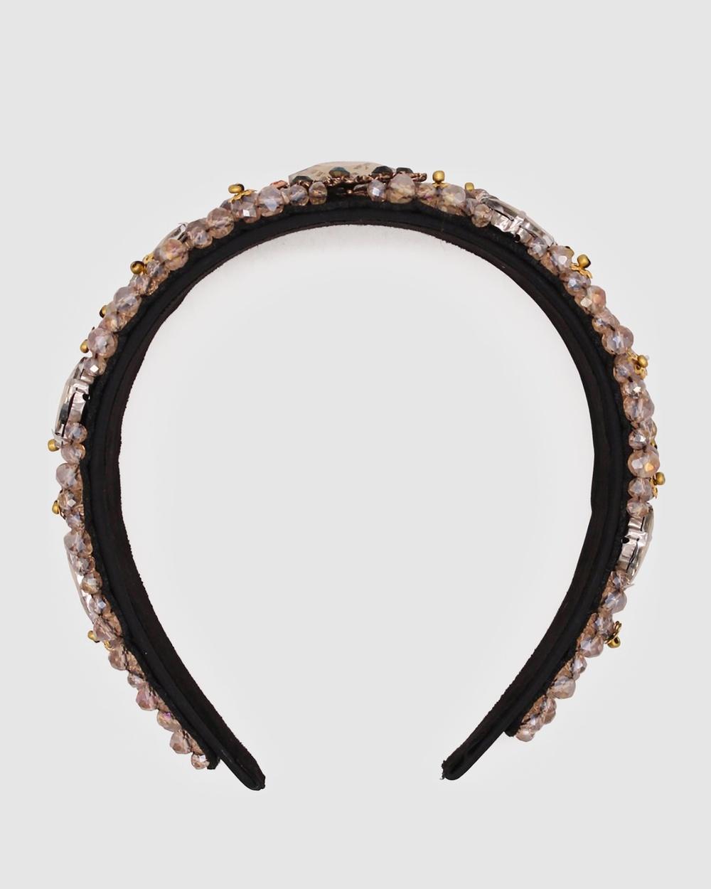 Morgan & Taylor Eryn Headband Fascinators Gold