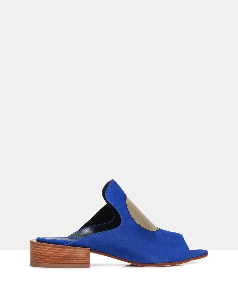 Beau Coops Valerie Open Toe Mule Mid-low heels Blue Valerie Open Toe Mule
