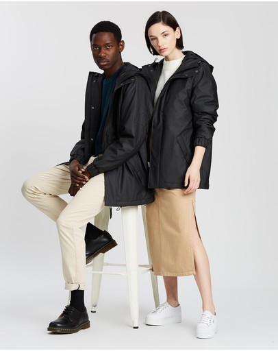 Rains Quilted Parka Black
