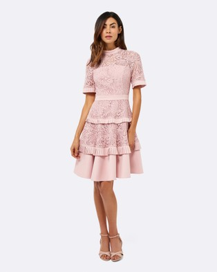 Forever New – Raine Spliced Panel Prom Dress – Bridesmaid Dresses (Blush)