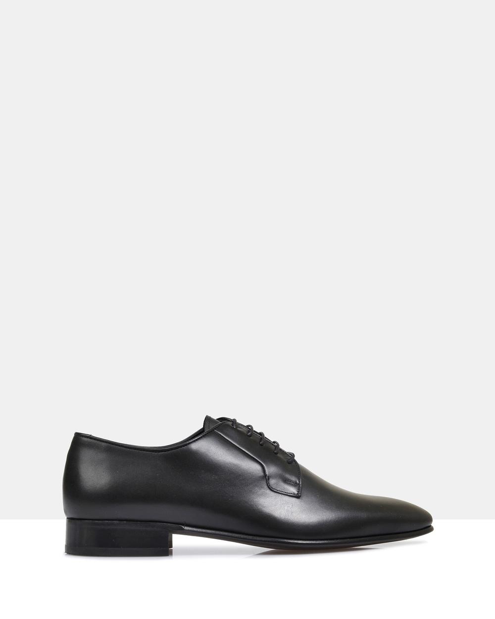 Brando Ellis Leather Derby Shoes Dress Black Australia