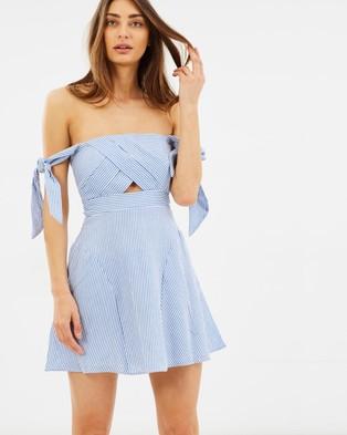 Bardot – Linen Stripe Dress