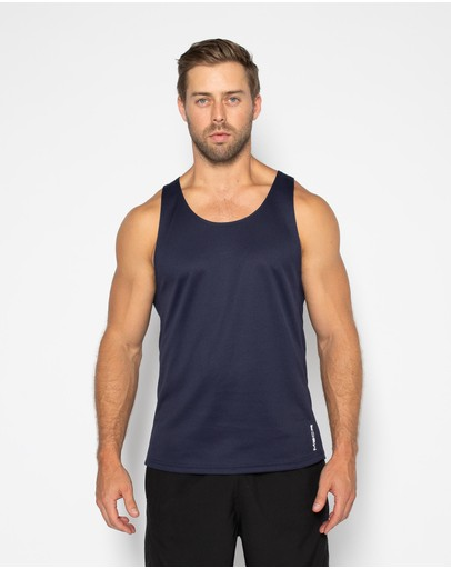 Muscle Republic Aspire Training Singlet Navy