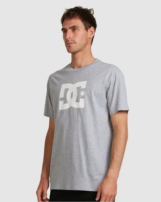 DC Shoes Mens Star Heritage Short Sleeve T Shirt - Short Sleeve T-Shirts (Heather Grey)
