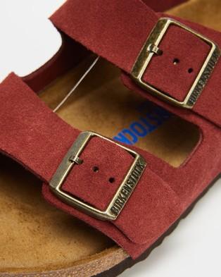 Birkenstock Unisex Arizona Nu Soft Oiled Sandals - Sandals (Antique Port)