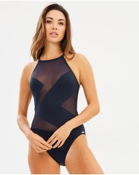 Michael Kors - High Neck One-Piece Swimsuit