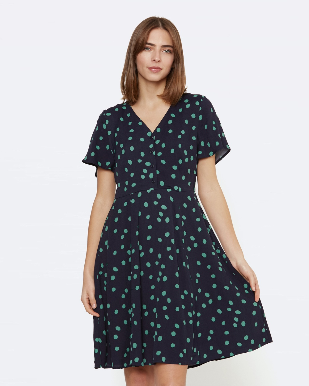 Princess Highway Ida Spot Dress Dresses Blue Ida Spot Dress