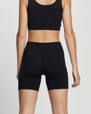 AVE Activewoman Side Pocket Biker Shorts - Sports Tights (Black)