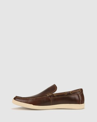 Airflex Dive Leather Loafer - Casual Shoes (Dark Brown)