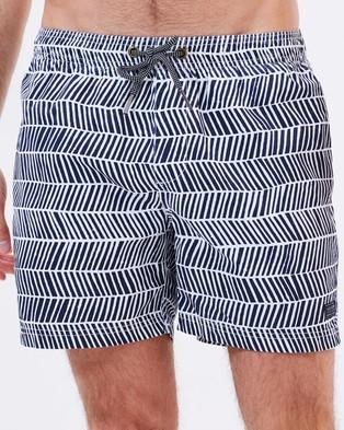 Academy Brand – Alonso Boardshorts – Shorts (Navy & White)