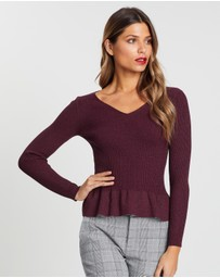 Forcast - Annabella Frill Knit Top