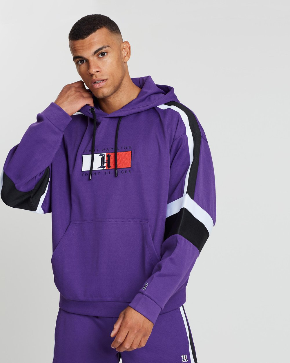 0f9a2c4b93 Lewis Hamilton Stripe Tape Graphic Hoodie by Tommy Hilfiger Online | THE  ICONIC | Australia