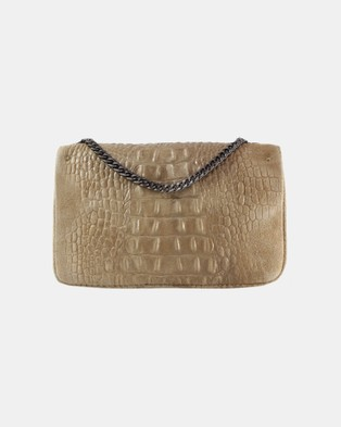 Lux Haide Emma Cross Body Clutch Bag - Clutches (Taupe)