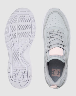 DC Shoes Womens E.Tribeka Platform Shoe - Sneakers (Grey/Grey/White)