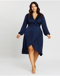Atmos&Here Curvy - Dakota Wrap Front Dress