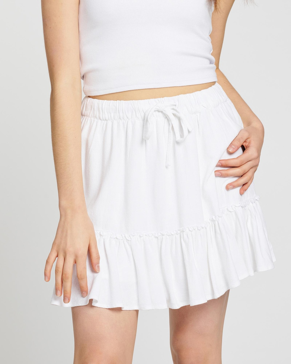 All About Eve Savanna Washed Skirt Skirts White