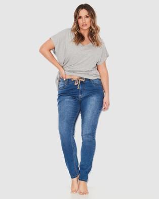 17 Sundays Anti Fit Jeans - High-Waisted (Neon Indigo)