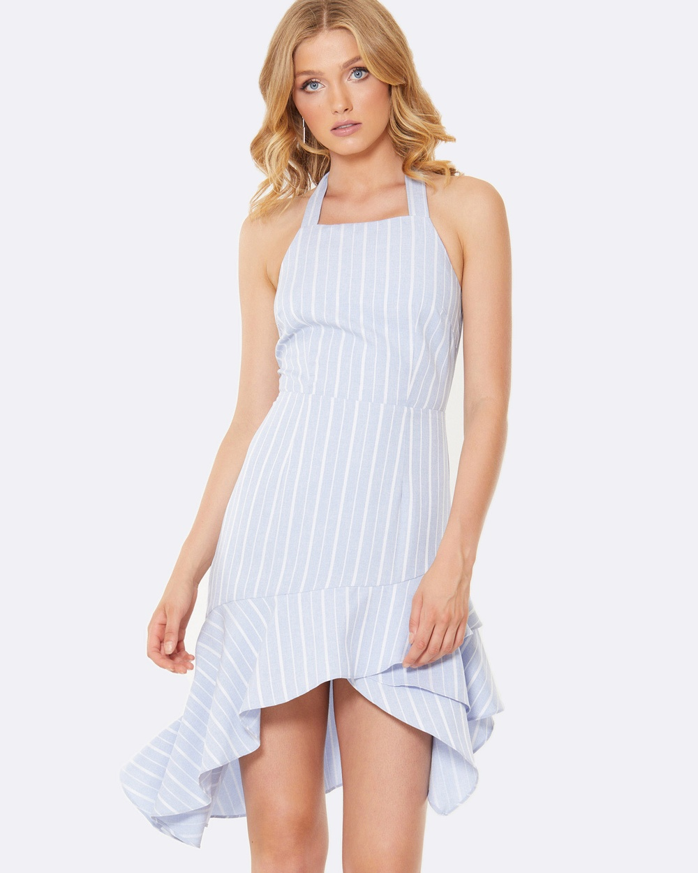 Calli Selena Frill Dress Dresses Blue Selena Frill Dress