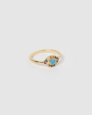 Izoa Jordana Eye Ring Gold - Jewellery (Gold)