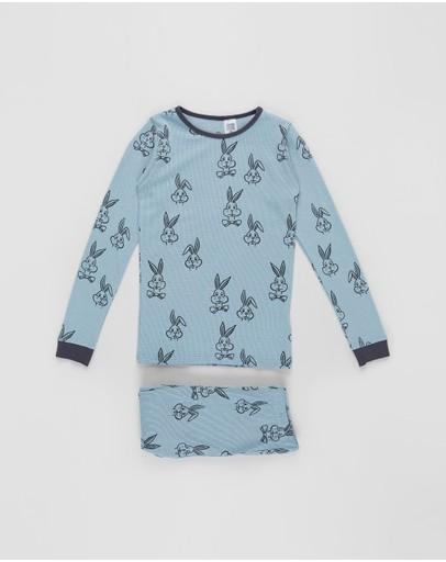 Cotton On Kids - Jack Long Sleeve Waffle Pyjama Set - Kids-Teens