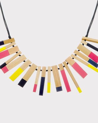 Florence Broadhurst Steps Dipped Statement Necklace - Jewellery (Multi)