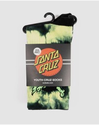 Santa Cruz - Youth Party Dot Socks 3-Pack - Teens