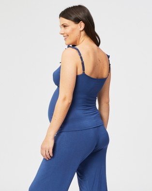 Cake Maternity Blue Berry Torte Maternity & Nursing Camisole - Sleepwear (Blue)