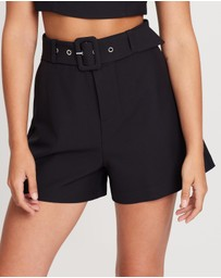 Dazie - Power Woman Belted Shorts