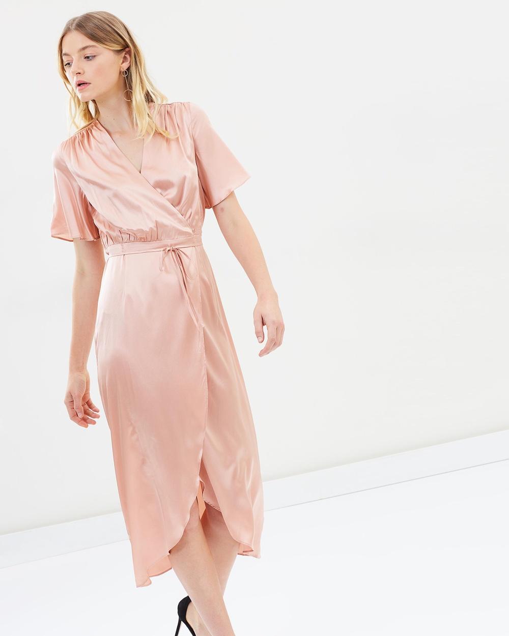 Hansen & Gretel Edie Silk Dress Dresses Dusty Pink Edie Silk Dress