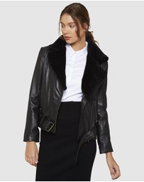 Oxford - Winnie Leather Jacket With Detachable Fur