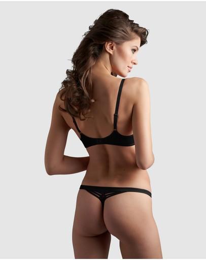Marlies Dekkers Dame De Paris Thong 2cm Black