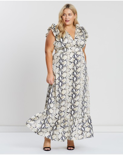 Atmos&here Curvy Suzy Maxi Dress Snake Print