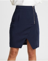 Willa - Essex Side Zip Wrap Over Skirt