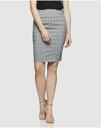 Oxford - Monroe Check Suit Skirt