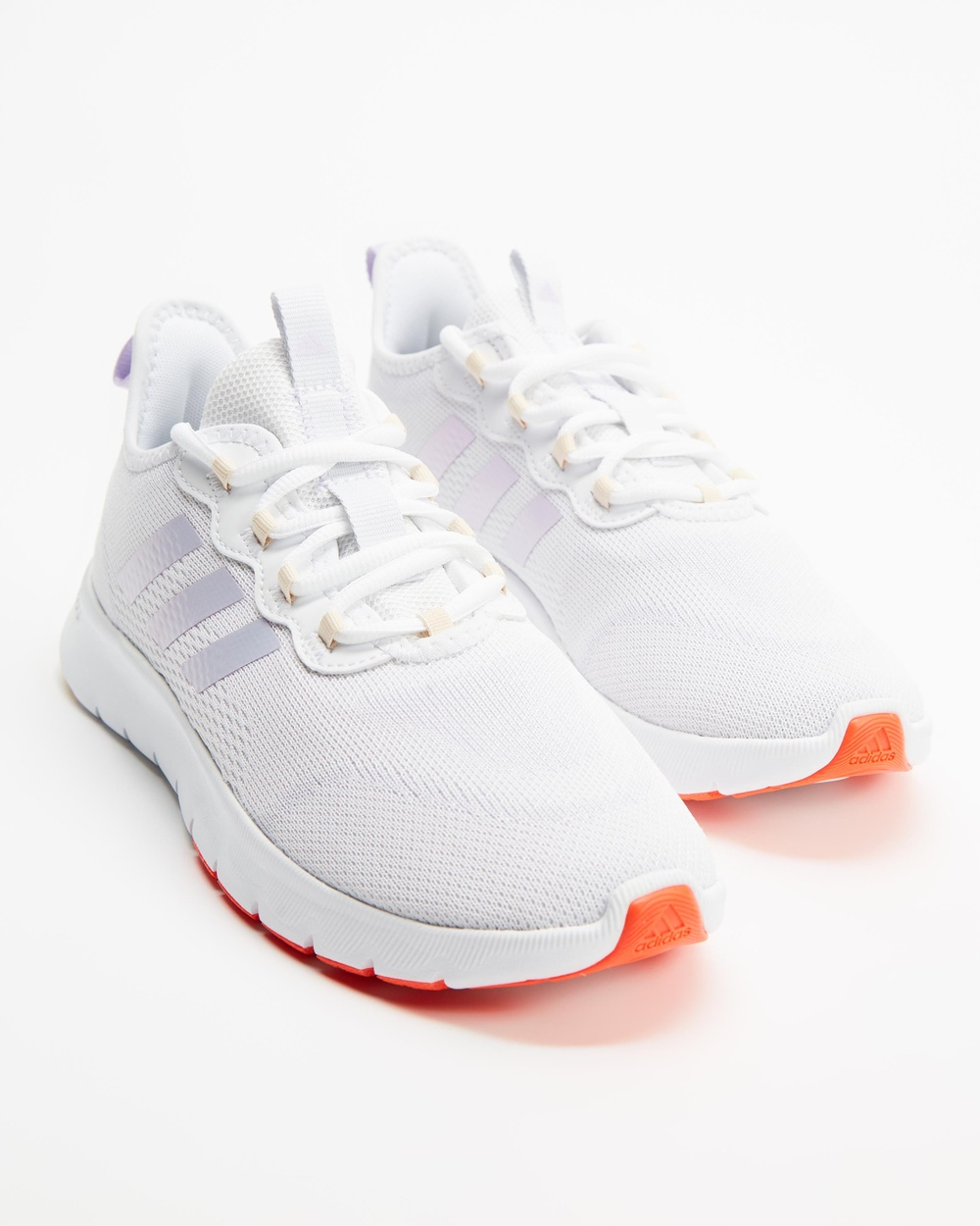adidas Performance Nario Move Running Shoes Women's Cloud White, Purple Tint & Dash Grey Australia