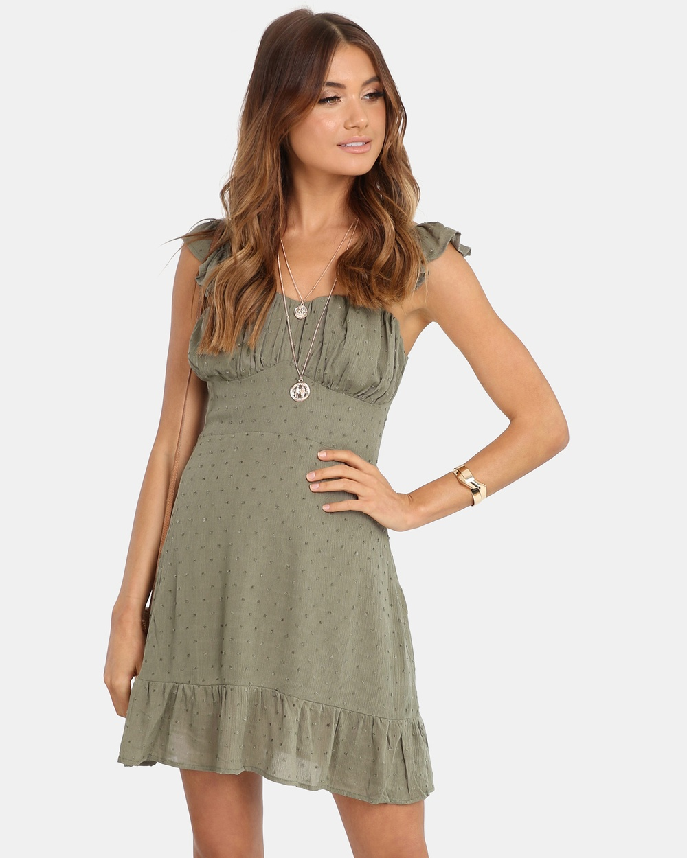 Lost in Lunar Khaki Skyler Dress