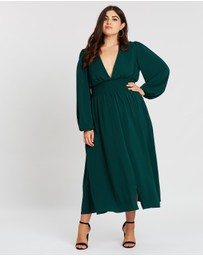 Atmos&Here Curvy - Vera Sleeve Maxi Dress