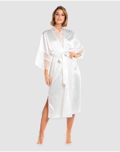 Deshabille Sleepwear The Bride Robe Ivory