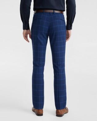 yd. Wolfe Check Slim Dress Pant - Suits & Blazers (BLUE)