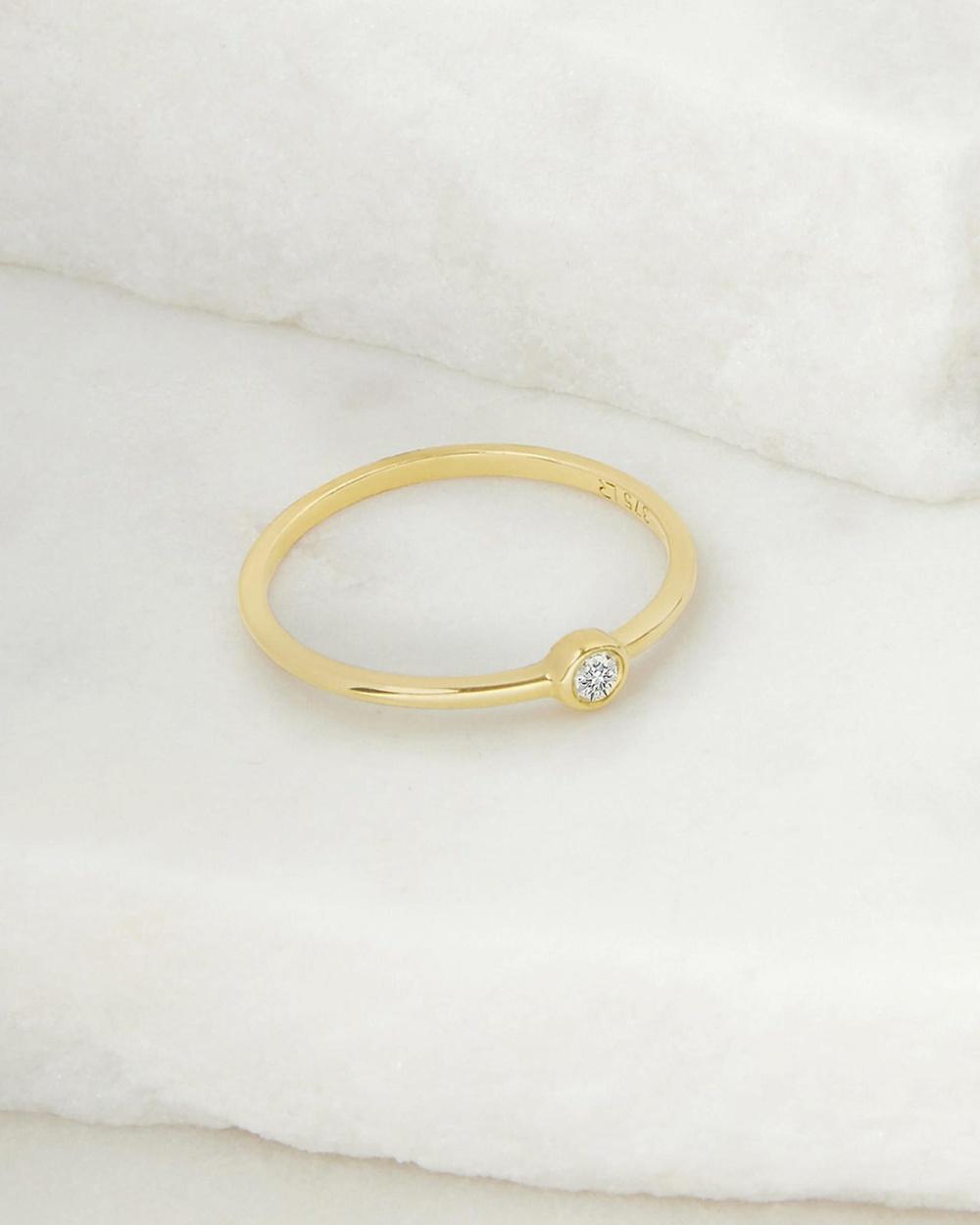 Luna Rae Solid Gold Diamond Sky Ring Jewellery Gold