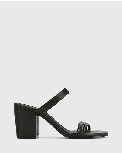 Wittner - Christiano Leather Slip On Block Heel Sandals